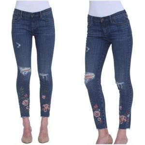 Driftwood Jackie Rome Skinny Floral Jeans
